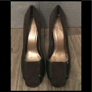 Penny Loves Kenny Suede and Patent Leather Pumps 7